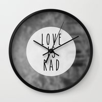 LOVE IS RAD  Wall Clock