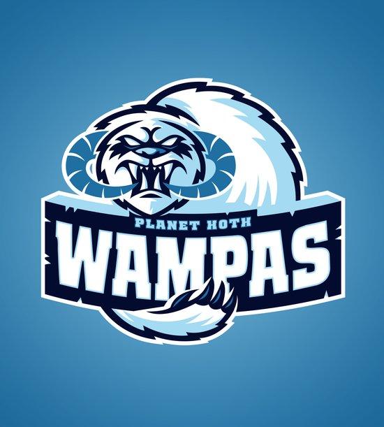 Planet Hoth Wampas - Blue Art Print