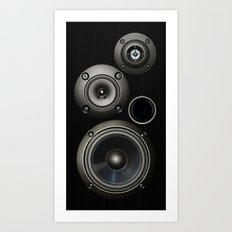 Speakers Art Print