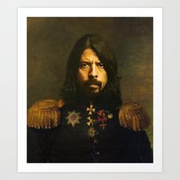 mario Art Prints featuring Dave Grohl - replaceface by replaceface