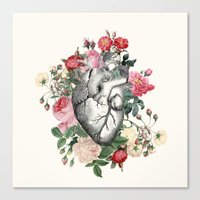Roses For Her Heart Canvas Print