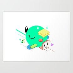 Tasty Visuals - Sandwich Time (No Grid) Art Print