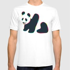 Composite panda SMALL Mens Fitted Tee White