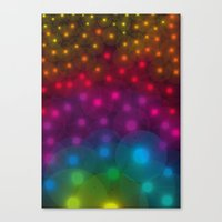 SF Dandelion Rainbow Canvas Print