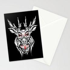 Mother nature deer Stationery Cards