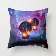 Throw Pillow featuring Space Trip. by Viviana Gonzalez