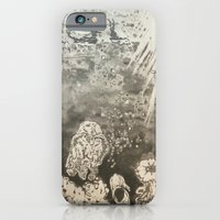 iPhone Cases featuring MoonSea EcoSystem Black and White by ANoelleJay