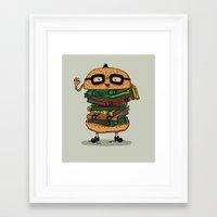 Geek Burger Framed Art Print