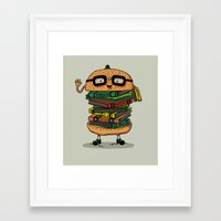 Geek Burger Framed Art Print