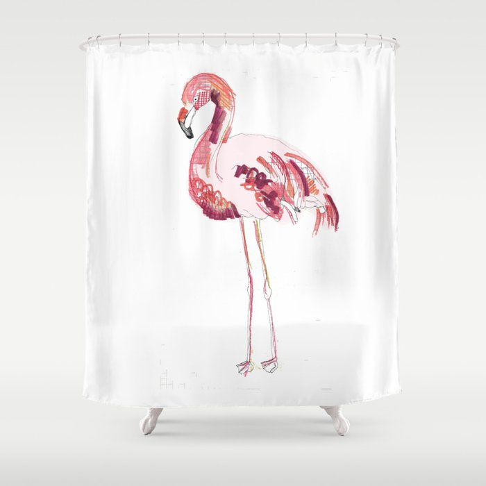 Flamingo Shower Curtain By Caseysplace