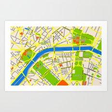 Paris map design Art Print