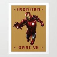 Iron Man MK VII Art Print