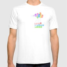 Let's dream more SMALL White Mens Fitted Tee