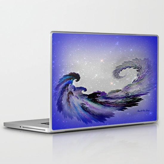 PURPLE PARROT PLANET Laptop & iPad Skin