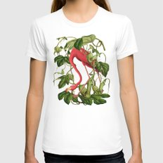 Flamingo Womens Fitted Tee White SMALL
