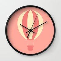 #84 Hot Air Balloon Wall Clock