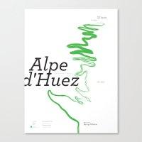 Famous Climbs: Alpe D'Hu… Canvas Print