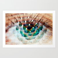 Green Eyes Hypnotize  Art Print