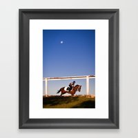 A Rider And A Horse Framed Art Print