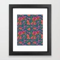 April blooms(Bougainvillea_blue) Framed Art Print