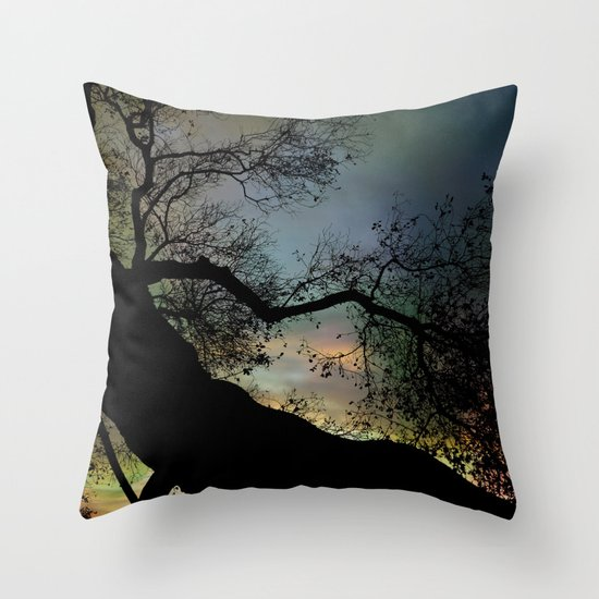 Night Fall by The Tree Throw Pillow