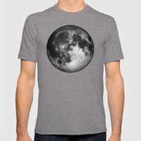 Moon Mens Fitted Tee Tri-Grey SMALL