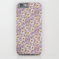 Blush Daisies and Berries Tiled Pattern iPhone 6 Slim Case
