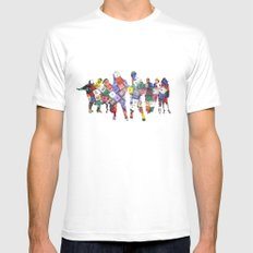 It is not the size of a person but the size of the heart that matters :) Mens Fitted Tee SMALL White