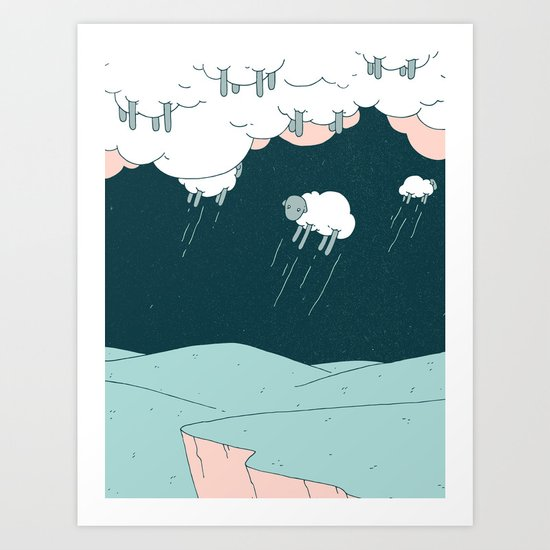Where Do Good Sheep Go Art Print By Derek Eads Society6