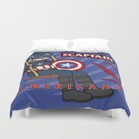 Captain Americana Duvet Cover
