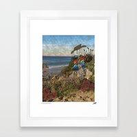 Billy At The Beach Framed Art Print