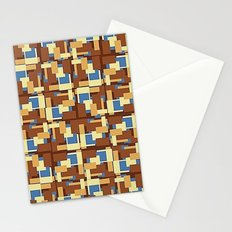 Blue Earth Patch Pattern Stationery Cards
