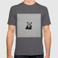 Tiny Panda Mens Fitted Tee Asphalt SMALL