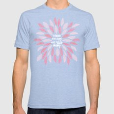 If Mama Ain't Happy – Pink Mens Fitted Tee Tri-Blue SMALL