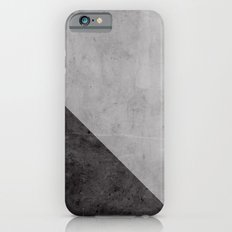 Concrete with black triangle iPhone 6 Slim Case