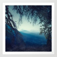 Blue Morning Art Print