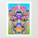 Anime Flower Explosion Art Print