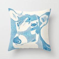 Deerest Blue Throw Pillow