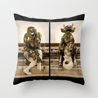 Medieval Nightmare Throw Pillow