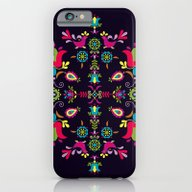 iPhone & iPod Case featuring Folk Birds And Flowers by Slovensky