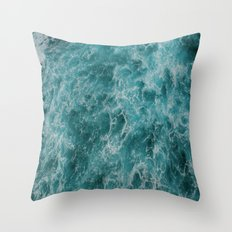 faded waves Throw Pillow