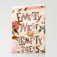 Empty Nest • Empty Mes… Stationery Cards