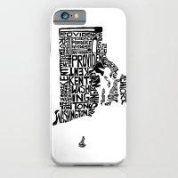 Typographic Rhode Island iPhone 6 Slim Case