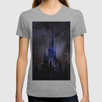 Fantasy Disney Womens Fitted Tee Athletic Grey SMALL