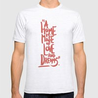 Motivation Quote - Illustration - Home - Dreams - Inspiration - life - happiness - love Mens Fitted Tee Ash Grey SMALL