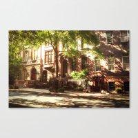 New York City Brownstones Canvas Print