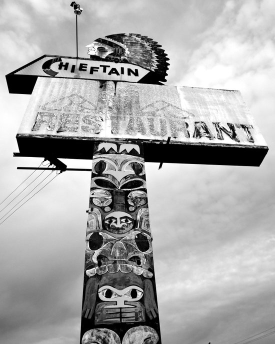 Totem Pole sign Art Print
