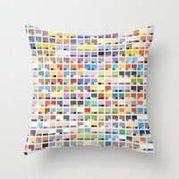 Complete Poke-Pantone  Throw Pillow