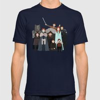 Game Of Thrones: Stark F… Mens Fitted Tee Navy SMALL