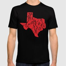 The Lone Star State - Texas SMALL Mens Fitted Tee Black